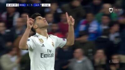 ¡GOOOL! Marco Asensio anota para Real Madrid