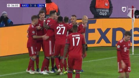 ¡GOOOL! Robert Lewandowski anota para FC Bayern München