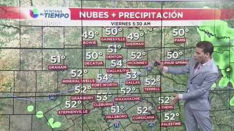 Condiciones secas y tranquilas para este viernes en la tarde en el Metroplex