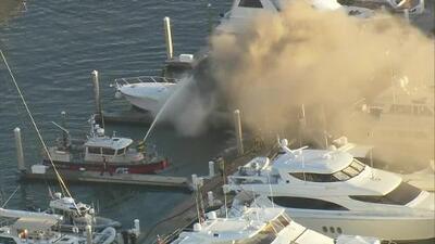 Un bote se incendia en Fort Lauderdale y una persona resulta herida con quemaduras