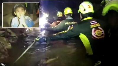 Rescatan a cuatro de los 12 niños atrapados en una cueva de Tailandia