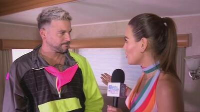 A Karina Banda le preocupó que Pedro Capó no llevara traje de baño para soportar el calor de Uforia Latino Mix Live