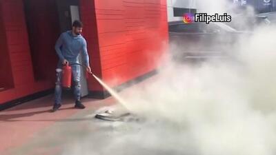 La pesada broma entre Diego Costa y Lucas Hernández con un extintor