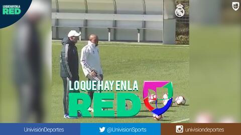 Roberto Carlos aprovechó la fecha FIFA para visitar a 'Zizu' y sus pupilos