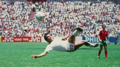El gol de Manuel Negrete en el Mundial de México 86, una verdadera obra de arte