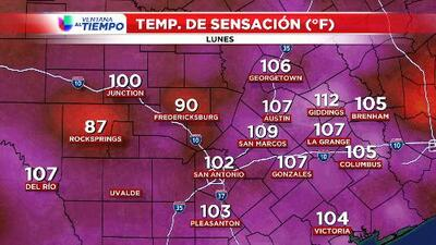 Calor extremo en el centro de Texas: se registran índices de hasta 109 grados