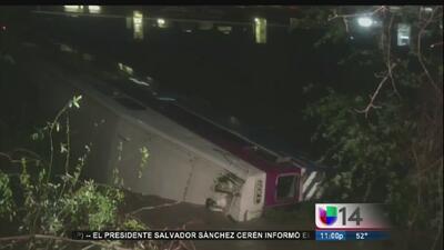 Descarrilamiento de tren en Alameda fue causado por un deslave
