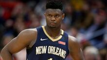 Zion Williamson abandonó este jueves la 'burbuja' de la NBA