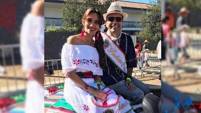 (VIDEO) Omar y Argelia fueron los padrinos del desfile del este de los Ángeles y no pudieron contener la emoción