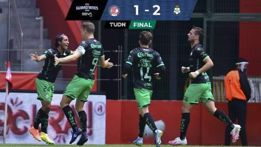 Resumen   Toluca 1-2 Santos   Los Guerreros se imponen a unos Diablos que ya no espantan