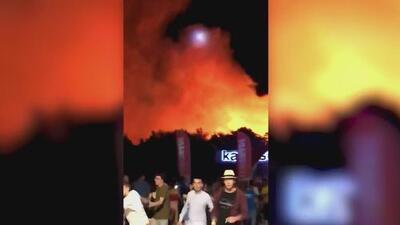 Un voraz incendio causó el pánico en un concierto de Croacia