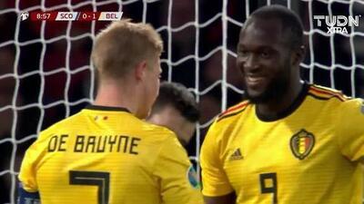 ¡GOOOL! Romelu Lukaku anota para Belgium