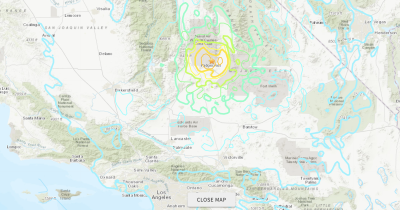 En fotos: las consecuencias del sismo de 6.4 grados que sacudió el sur de California este 4 de julio