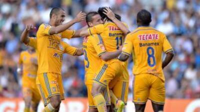 Querétaro 1-3 UANL: Tigres devora a Gallos Blancos