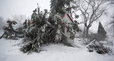 El 'ciclón bomba' castiga Colorado: al menos un fallecido y más de 100,000 residentes sin electricidad (fotos)