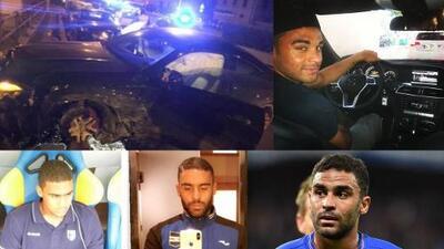 ¡Rápido y culposo! Futbolista ebrio huye de control policíaco y más adelante choca