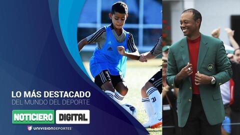 Noticiero Digital: Cristiano Jr. la está rompiendo con la Juve y Tiger Woods hizo millonario a un apostador