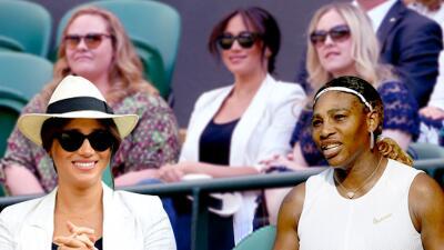 Meghan Markle se separa por unas horas de su hijo Archie para apoyar a Serena Williams en el torneo Wimbledon