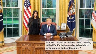 Kim Kardashian visita la Casa Blanca para hablar sobre reformas al sistema carcelario