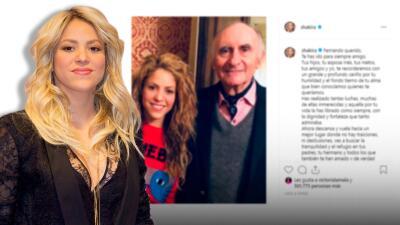 Shakira lamenta la muerte de su exsuegro Fernando de la Rúa y le dedica un sentido mensaje