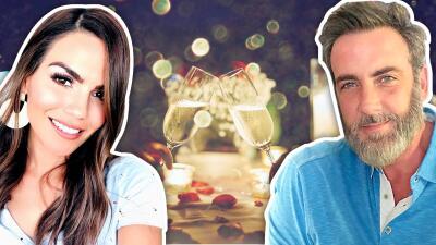 Con una botella de vino y mucho romanticismo Karina Banda celebró a Carlos Ponce