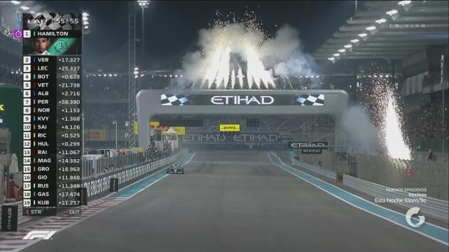 ¡Bandera a cuadros! Lewis Hamilton gana el Gran Premio de Abu Dabi