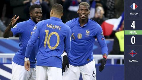 Francia 4-0 Islandia - GOLES Y RESUMEN - GRUPO H - ELIMINATORIAS – Eurocopa