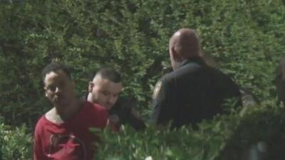 Un hombre fue herido por una bala perdida disparada en una discusión de pareja en un apartamento cercano