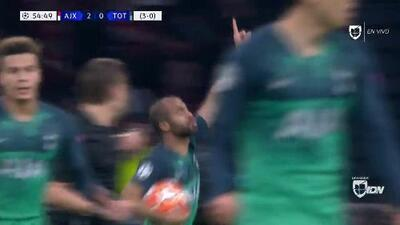 ¡GOOOL! Lucas Moura anota para Tottenham Hotspur