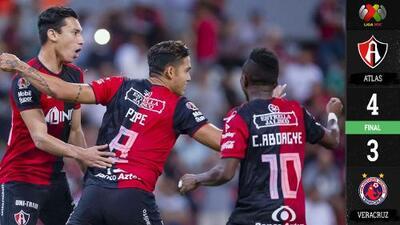 Entre VAR, polémica y muchos goles, Atlas venció al Veracruz en el tiempo agregado