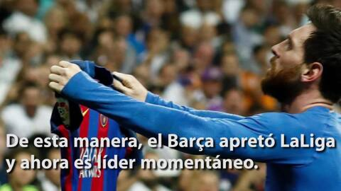 Con la victoria del Barcelona en El Clásico, así quedó la tabla de La Liga