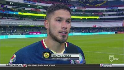 """Bruno Valdez: """"Fue un resultado muy justo, pero lo importante fue que ganamos"""""""