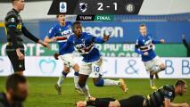 Inter cayó ante Sampdoria en la Serie A y pierde invicto de 11 fechas