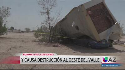 Monzón causa destrucción al oeste del Valle