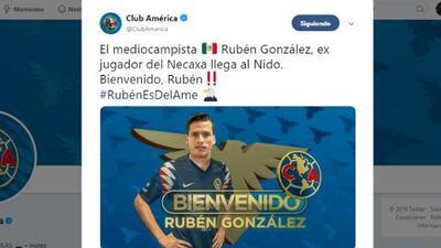América anuncia que su primer refuerzo es Rubén González