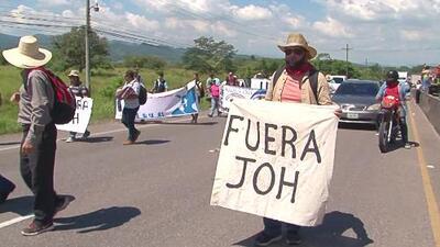 Inicia en Honduras una caravana interna exigiendo la renuncia del presidente Juan Orlando Hernández