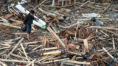 Así se ven las zonas afectadas tras un poderoso terremoto y un tsunami en Indonesia