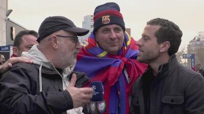 El color de la Champions: aficionados del Barcelona se burlan de Real Madrid y se ilusionan con la 'orejona'