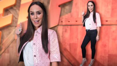 En jeans y Chanel, así llegó Inés Gómez Mont a Familias Frente al Fuego