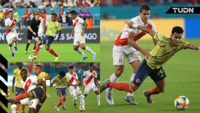 Colombia se impone a Perú en el último minuto de juego