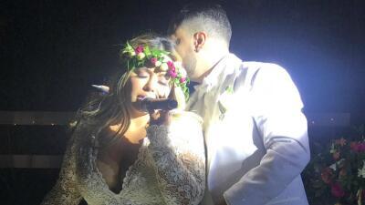 En exclusiva: las fotos que revelan cómo Chiquis y Lorenzo celebraron su matrimonio