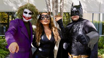 EN FOTOS: Batman, Catwoman y The Joker llegaron a El Free-guey show