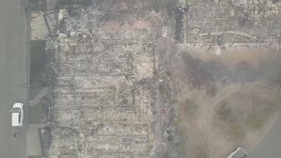 Así se ve desde un dron la devastación generada por los incendios en el norte de California