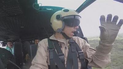 La labor del patrullaje aéreo es detener la entrada de inmigrantes