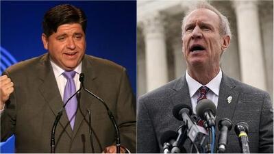 J.B. Pritzker y Bruce Rauner encabezan la contienda demócrata y republicana para la Gobernación de Illinois