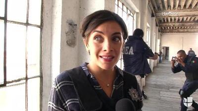 Detrás de cámaras: María de la Fuente explica cómo se preparan las escenas de tiroteo