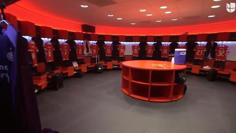 Así luce el camerino del PSV justo antes del encuentro ante el BATE Borisov