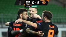 El United goleó al Lask y tiene pie y medio en cuartos