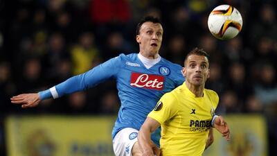Villarreal se impone al Nápoles en la ida con un golazo de Denis Suárez en Europa League