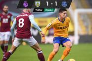 Everton desaprovecha genialidad de James y empata ante el Burnley